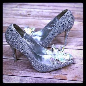 Crystal Rhinestone Cinderella shoes
